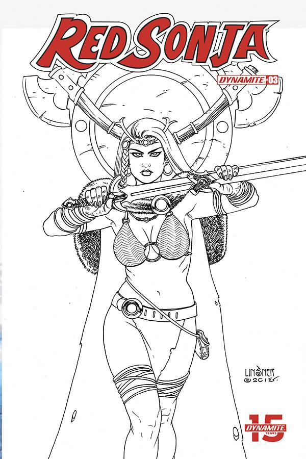 Red Sonja #3 1/30 Joseph Michael Linsner Black & White Variant