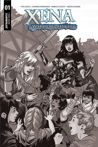 Xena Warrior Princess #1 1/20 Emanuela Lupacchino Black & White Variant