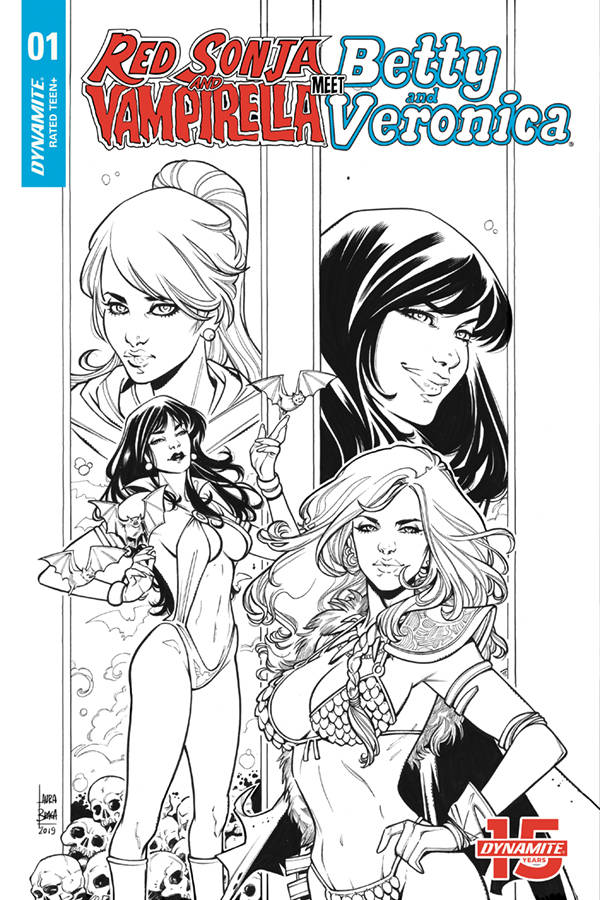Red Sonja & Vampirella Meet Betty & Veronica #1 1/20 Laura Braga Black & White Variant