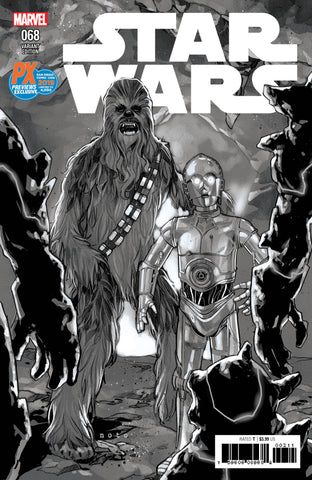 Star Wars #68 Gerald Parel Black & White SDCC 2019 Exclusive Variant - 1 of 4000