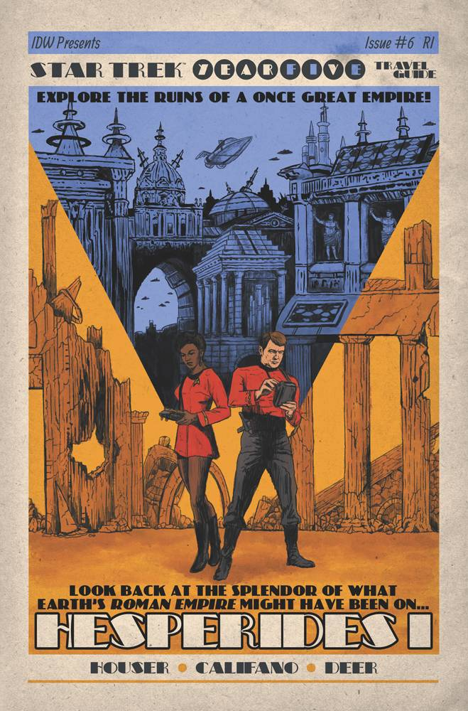 Star Trek Year Five #6 1/10 J.J. Lendl Travel Poster Variant