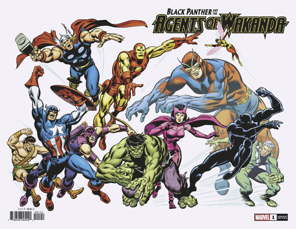 Black Panther and the Agents of Wakanda #1 1/100 John Buscema Hidden Gem Variant