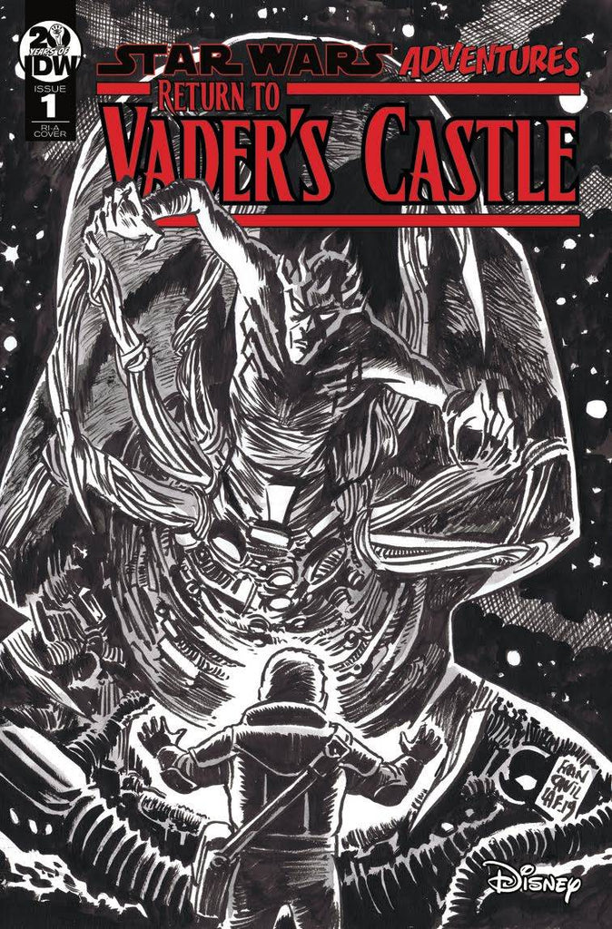 Star Wars Adventures Return to Vader's Castle #1 1/10 Francesco Francavilla Black & White Variant