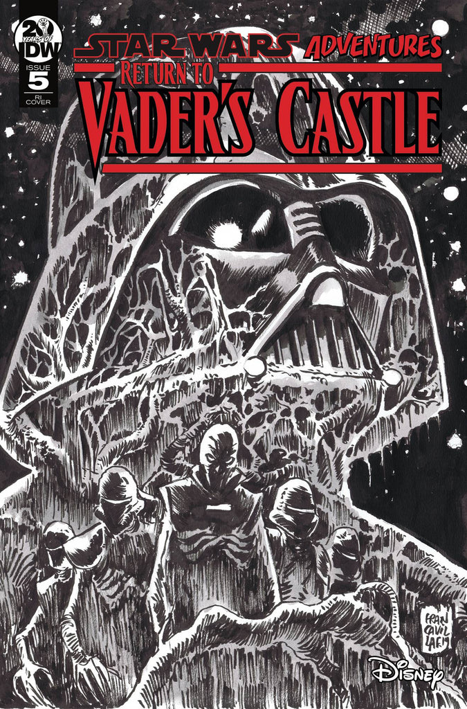 Star Wars Adventures Return to Vader's Castle #5 1/10 Francesco Francavilla Black & White Variant