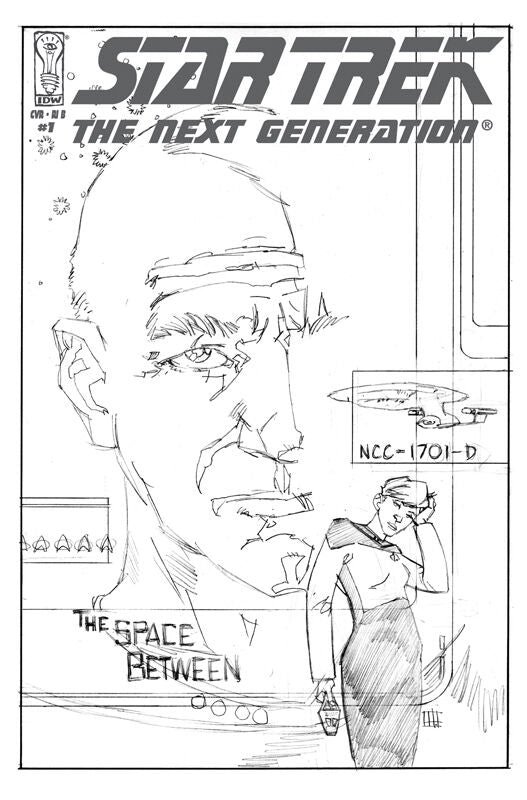 Star Trek: The Next Generation - The Space Between (Vol 1 2007) #1 CVR RI-B Sketch Cover