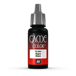 Game Color: Black, 17 ml.