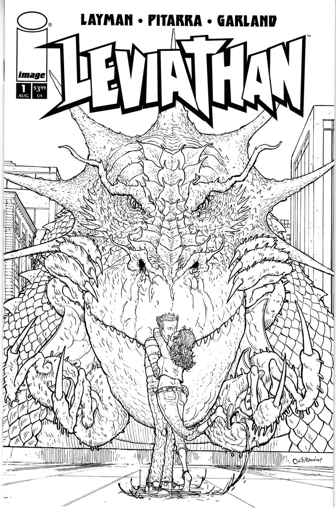 Leviathan #1 1/10 Nick Pittara Black & White Variant