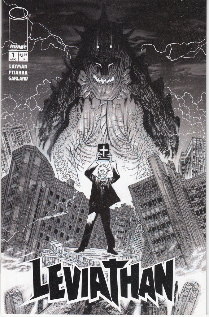 Leviathan #1 1/25 James Harren Black & White Variant