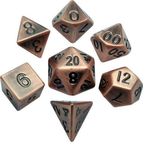 16mm Copper Metal Dice Set