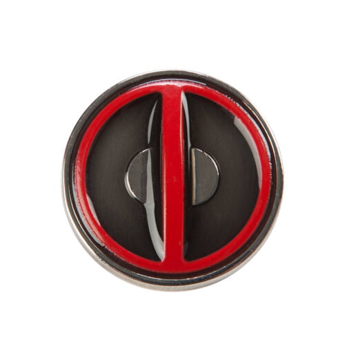 Lapel Pin - Deadpool Logo COLORED Pewter