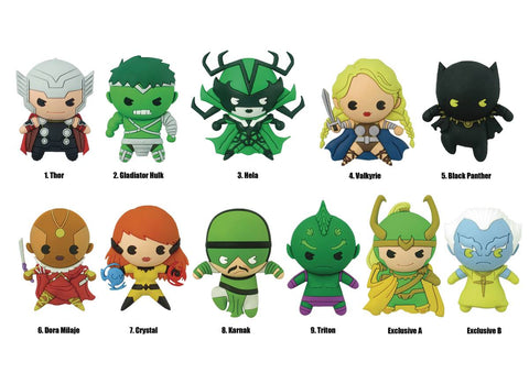 3D KEYRING 24PC - Marvel Series 9