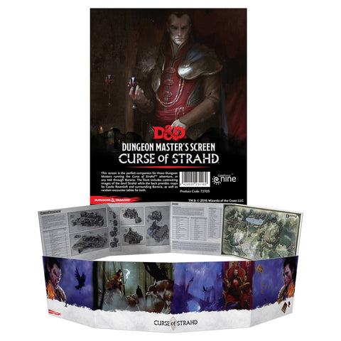 Dungeons and Dragons RPG: Curse of Strahd DM Screen