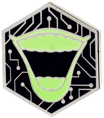 GS Exclusive Batman 80th GITD Joker Lips 1.5-Inch Pin
