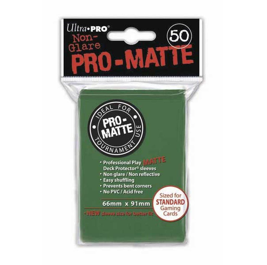UPR Pro-Matte Deck Protectors Pack: Green 50ct