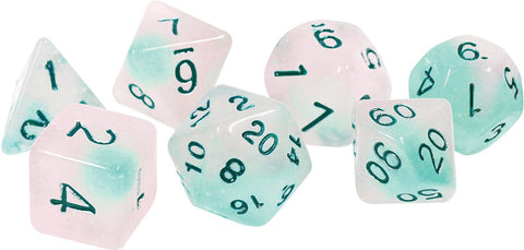 RPG Dice Set: Frosted Glowworm (7)