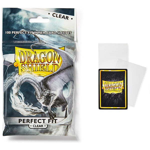 Dragon Shield Sleeves: Perfect Fit Standard- Clear/Clear (100 ct.)