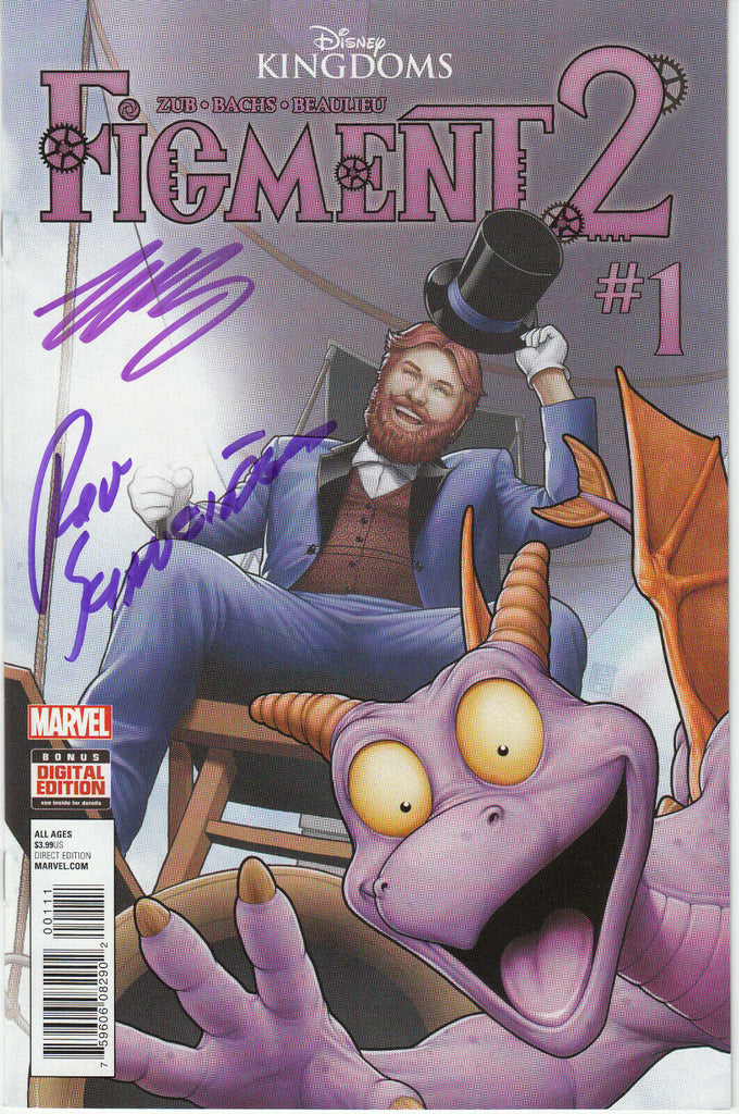 Disney Kingdoms Figment 2 #1 (Marvel, 2015) - Signed - Jim Zub - Dreamfinder - COA