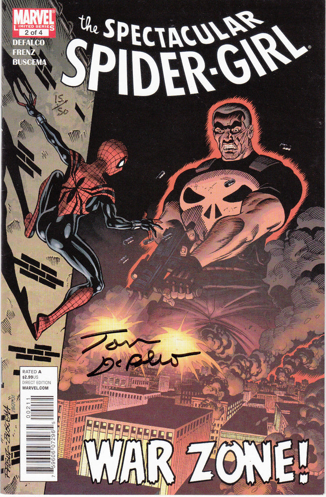 Spectacular Spider-Girl #2 - Signed Writer Tom DeFalco - Punisher - COA - #15/50