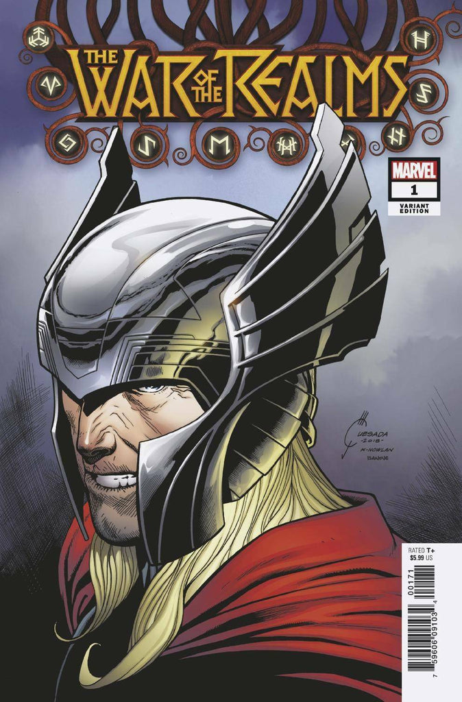 War of the Realms #1 1/50 Joe Quesada Thor Variant