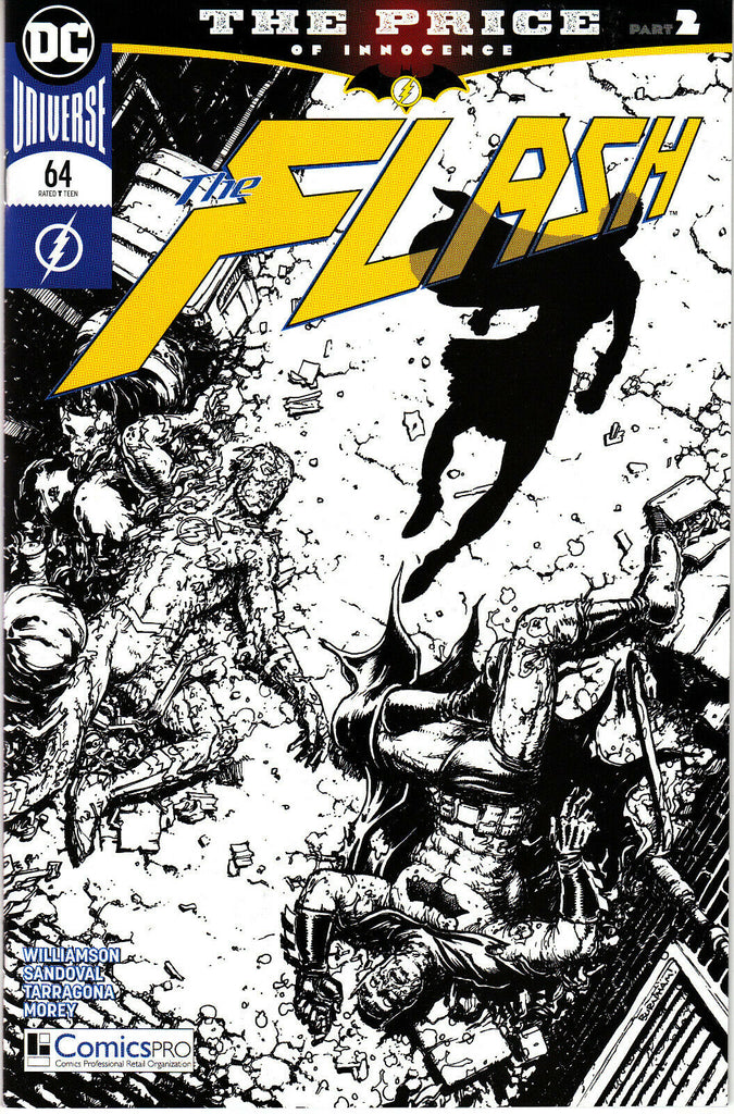 Flash #64 Chris Burnham Black & White ComicsPRO 2019 Exclusive Variant