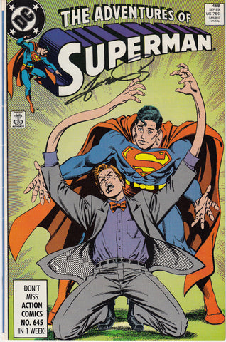 Adventures of Superman #458 - Signed by Plotter George Perez