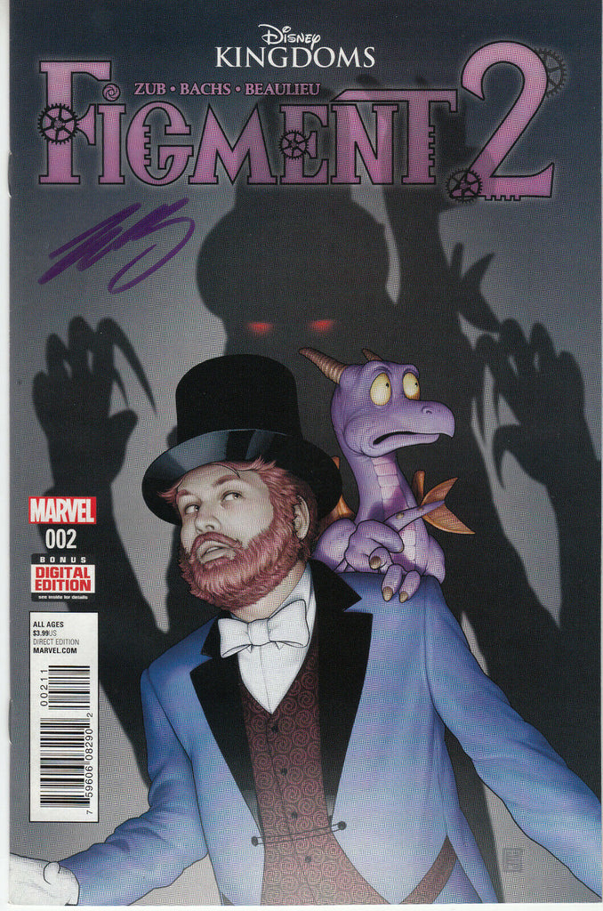 Disney Kingdoms Figment 2 #2 (Marvel, 2015) - Signed - Jim Zub - COA