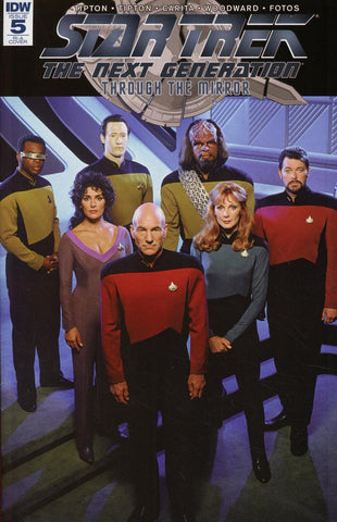 Star Trek The Next Generation Through The Mirror #5 1/10 Crew Photo Variant
