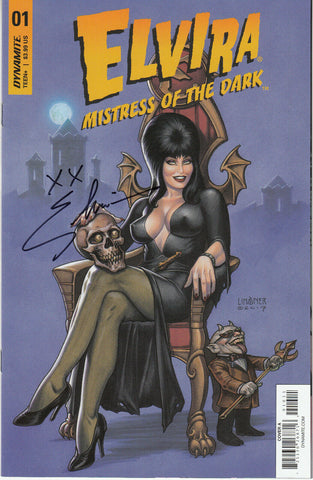 Elvira Mistress of the Dark #1 1/50 Joseph Michael Linsner Cover - Signed - COA