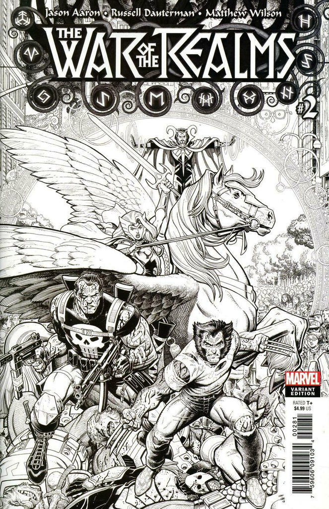 War of the Realms #2 1/200 Art Adams Black & White Variant