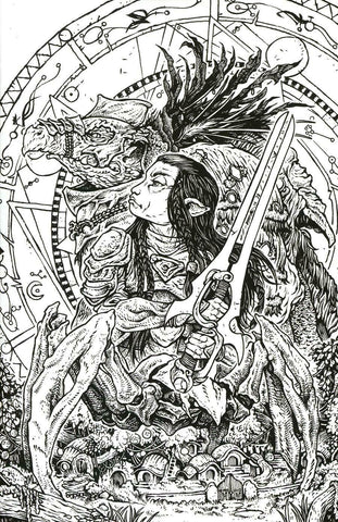 Jim Henson's The Dark Crystal Age Of Resistance #2 1/25 David Peterson Black & White Variant