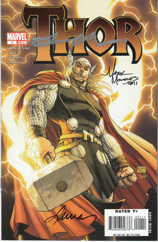Thor #1 (Marvel, 2007) Michael Turner 50/50 Variant - Signed - COA
