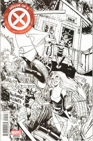 House of X #1 One Per Store Humberto Ramos Black & White Variant