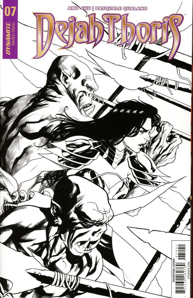 Dejah Thoris #7 1/10 Mike McKone Black & White Variant
