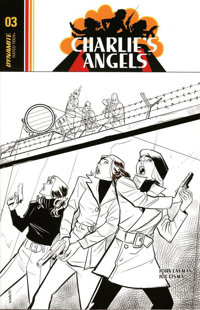 Charlie's Angels #3 1/10 Joe Eisma Black & White Variant
