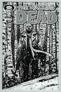 Walking Dead (Vol 1 2018) #7 15th Anniversary, Johnson B&W Variant