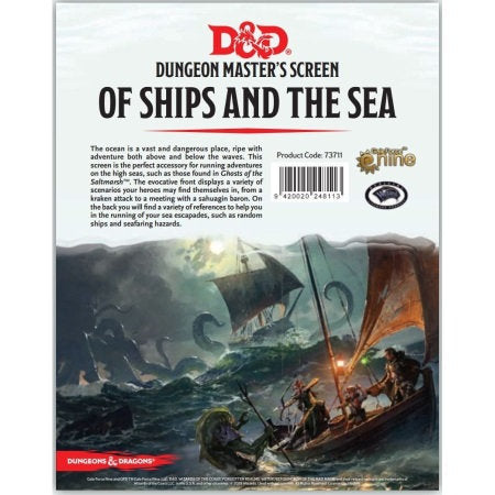 D&D 5th Edition: DM Screen- Of Ships and the Sea