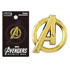 "Lapel Pin - Avengers "" A"" Logo Gold (M) Pewter"