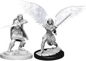 WZK DnD Mini - Female Aasimar Fighter