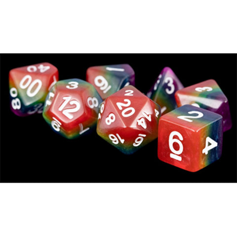 7-Die Set Opaque: Rainbow