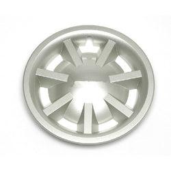 "8"" Metallic Silver Hubcap Assembly"