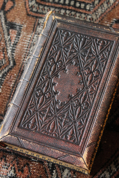Antique Leather Cowper's Poetical Works from 1853