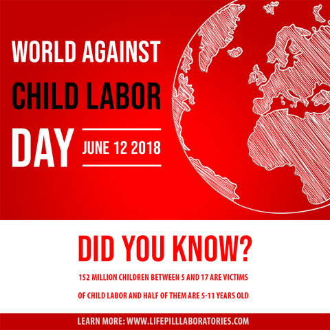 World Against Child Labor Day June 12 Dr Alfred Sparman The Sparman Clinic Life Pill - Child Abuse - Heart Disease