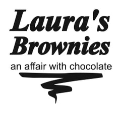 logo text Laura's Brownies - an affair with chocolate