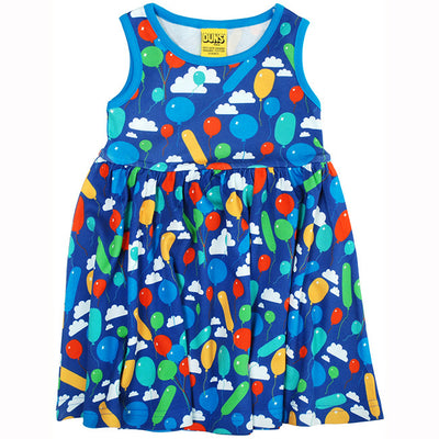 Duns Sweden Blue Balloon Sleeveless Dress