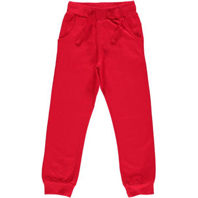 Maxomorra Regular Red Velour Pants
