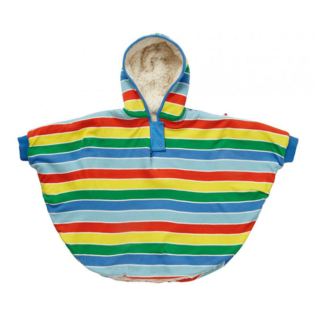 Piccalilly Rainbow Stripe Poncho