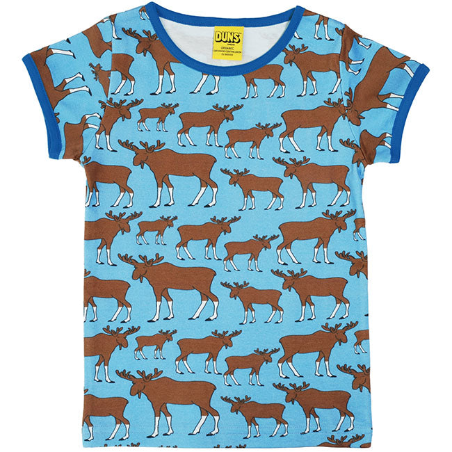 Duns Sweden Moose T-Shirt - Blue