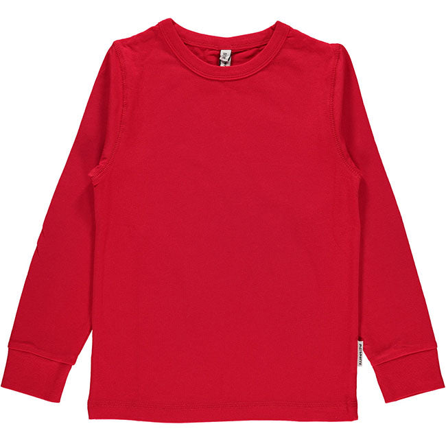 Maxomorra Red Long Sleeve Top