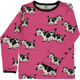 Smafolk Cow Top - Pink