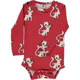 Smafolk Cat Bodysuit - Red
